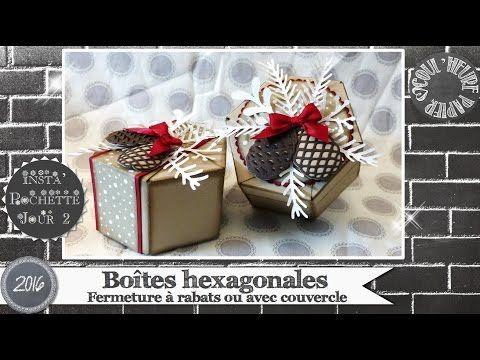 """Vidéo-Tuto """"Boîtes hexagonales"""" par Coul'Heure Papier - YouTube"""