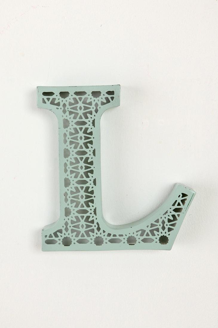 Avalisa letter upper case t stretched wall art - Color Etched Letter