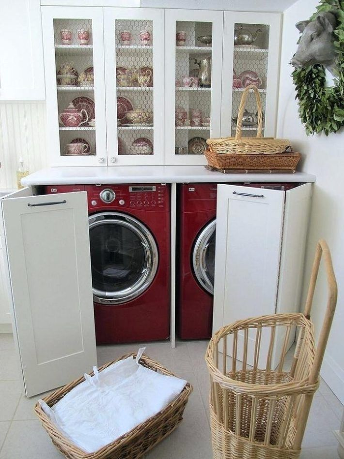 Stackable Washer Dryer Cabinet Ikea And Hidden In A Kitchen Hutch Doors Dimensions