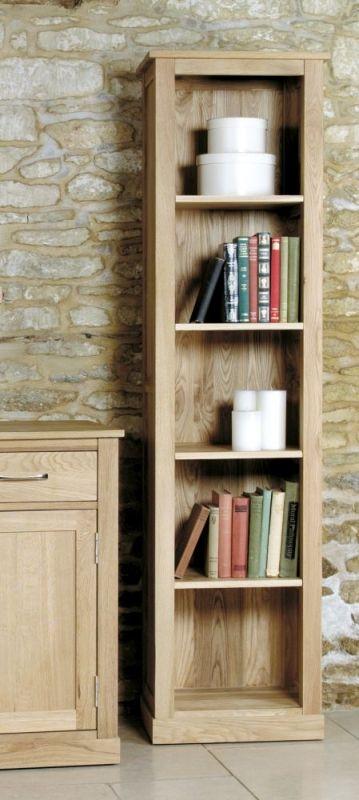 Baumhaus Mobel Oak Narrow Bookcase Superb Contemporary Tall