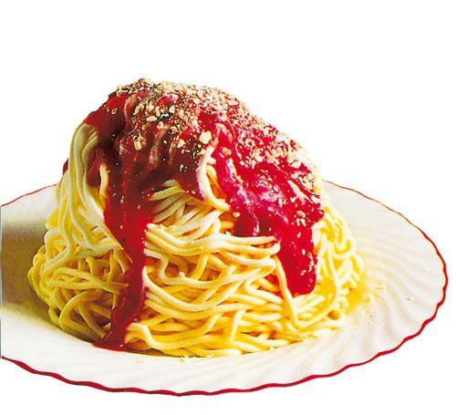 Spaghetti-Eis is ice cream that's made to look like spaghetti.