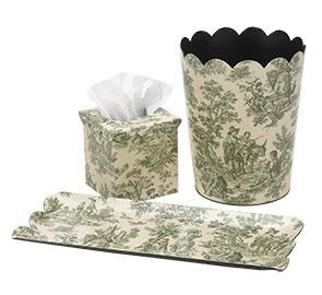 Toile bathroom decor and gifts decorative accessories home d cor view entire sale toile - Toile bathroom decor ...