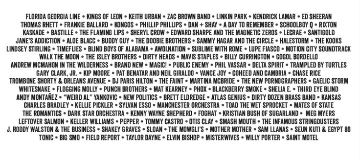 The lineup is here!  Check out who's coming to Milwaukee for this year's Summerfest. #thebiggig #summerfest #milwaukee #musicfestival