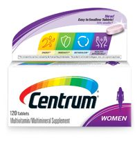 Product Labeling (including Supplement Facts data) as stated and disseminated by http://www.centrum.com: http://www.centrum.com/centrum-women#