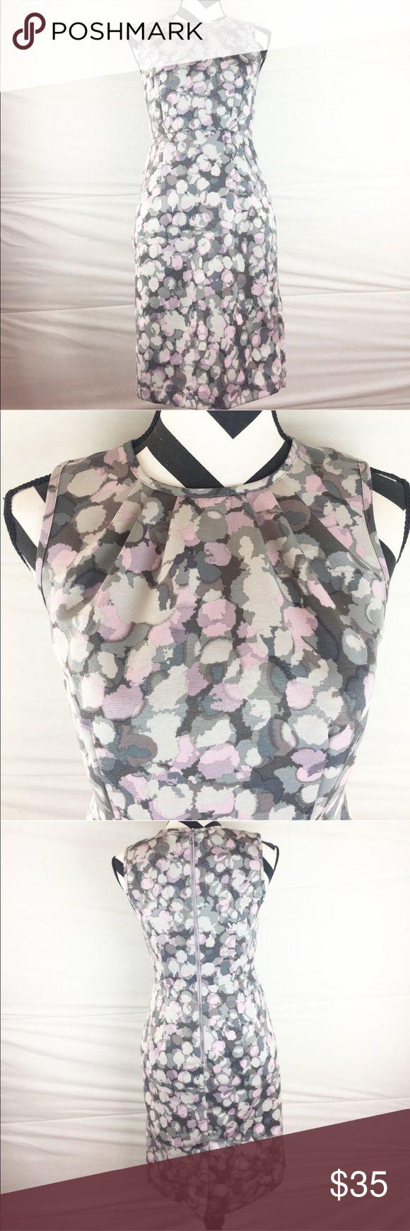 """Anne Taylor loft beautiful Sleeveless dress Anne Taylor loft purple and grey dress. Sleeveless has a zipper in the back. Length 35"""" waist 14"""" 100% polyester LOFT Dresses"""