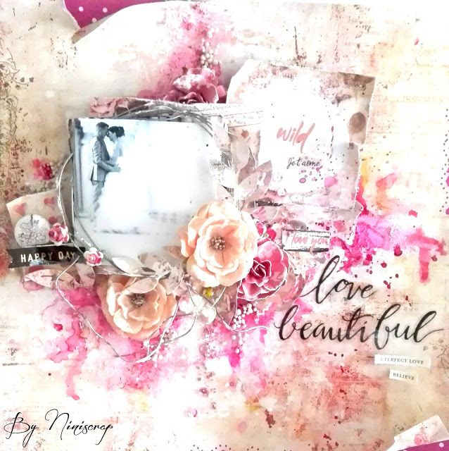 """Accent Scrapbooking: Page """" Love Beautiful"""" by Niniscrap"""