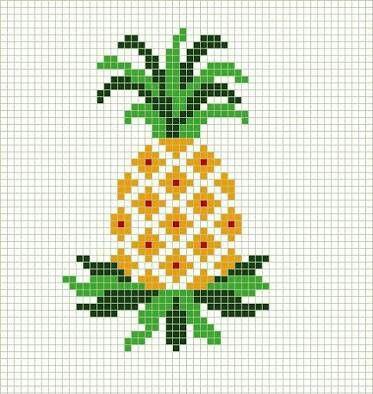 Cross Stitch/Pineapple/Ananas