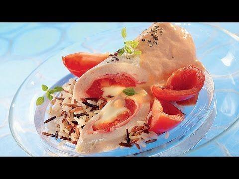 Roulés de dinde et tomates à la vapeur