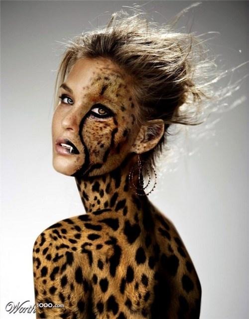 model, cheetah, makeup, awesome, woman, beautiful #spirithoods #inneranimal