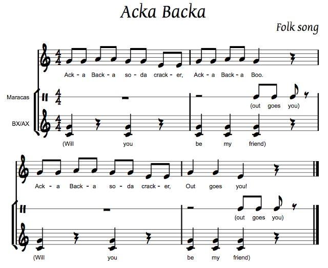 Acka Backa Orff Arrangement