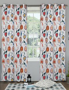 TWOPAGES® Heart-Shaped Wetercolor Curtain (Two Panels)