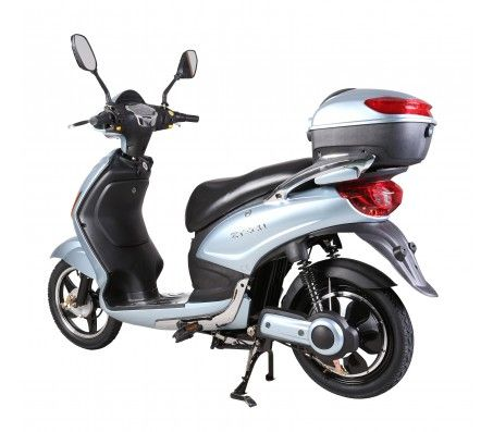 'Bicicleta electrica' tip scuter electric ZT-09 Classic de 350W. Nu necesita permis de conducere pentru ca este limitat la 25km/h. Doar modelele care au intre 25 - 40 km/h sunt mopede si necesita permis!