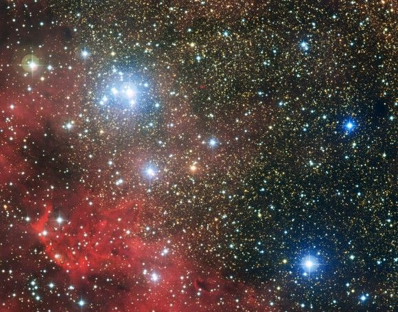 The star cluster NGC6604, a group of hot young stars that would outshine any Hollywood party!