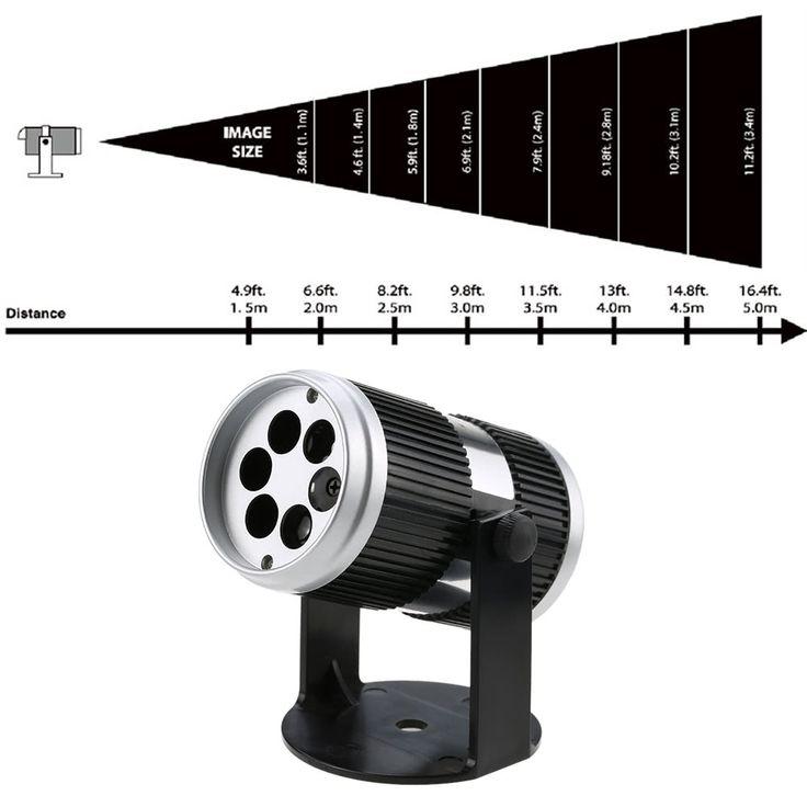 4W 4LED 360° Adjustable Dynamic RGBW Moving Snowflake Film Sales Online au - Tomtop.com
