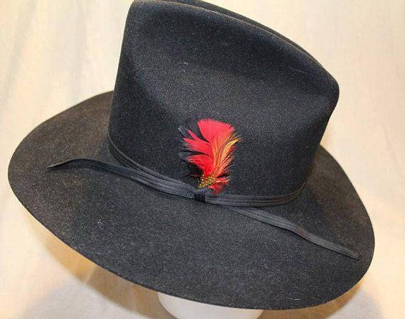 02193c05079 Vintage Shepler s Dynafelt Black Fur Felt Western Men s Cowboy Hat ...