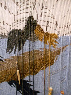 """Progress of """"Feathers"""" by Tommye Scanlin  2013"""