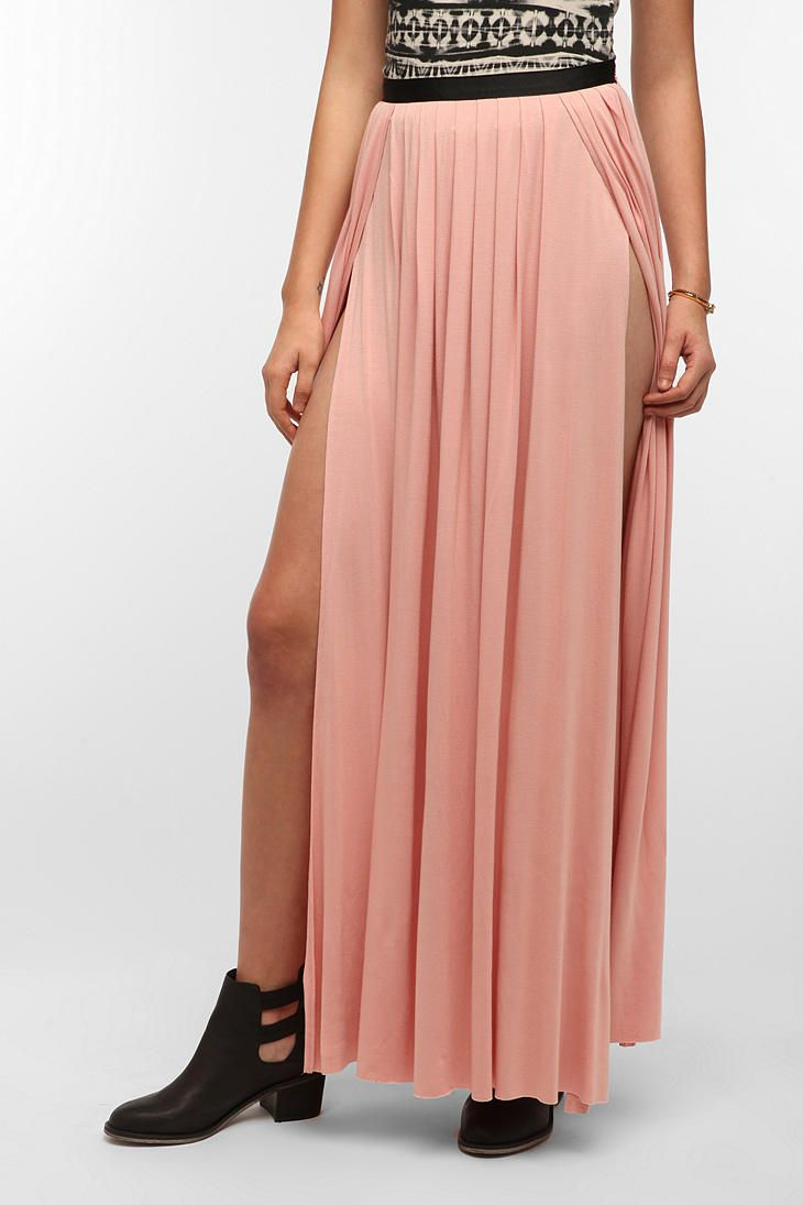 Double Slit Maxi Skirt from Urban Outfitters Please!