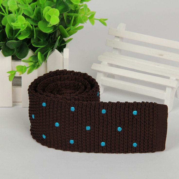 >> Click to Buy << Ties/mens ties 2014 slim gentlemen neckties/5.5cm brown blue polka dot knitted ties for men free shipping #Affiliate