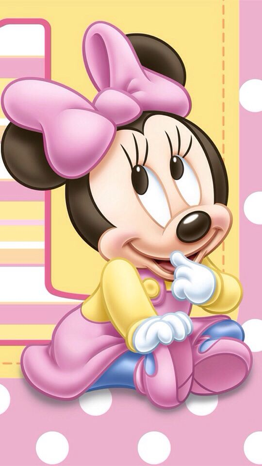 BABY MINNIE MOUSE IPHONE WALLPAPER BACKGROUND: