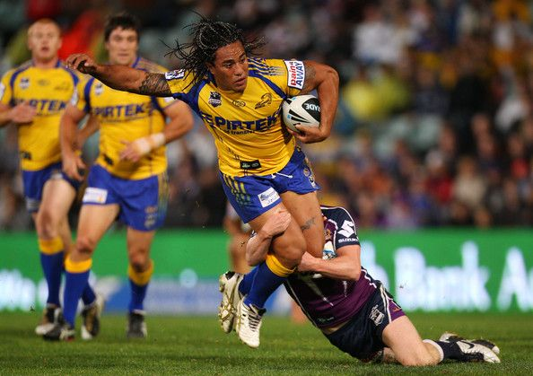 Fuifui Moimoi Fuifui Moimoi of the Eels is tackled during the round 13 NRL match between the Parramatta Eels and the Melbourne Storm at Parramatta Stadium on June 4, 2010 in Sydney, Australia.