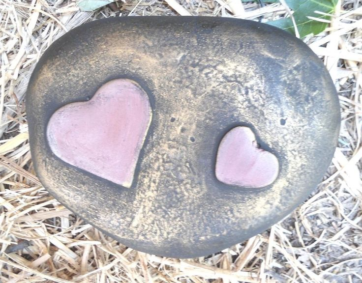 Concrete MOLD Plaster MOLD  double heart rock mold  #gostatue