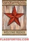 Rustic Star Garden Flag