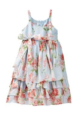 Floral Printed Dress (Little Girls)