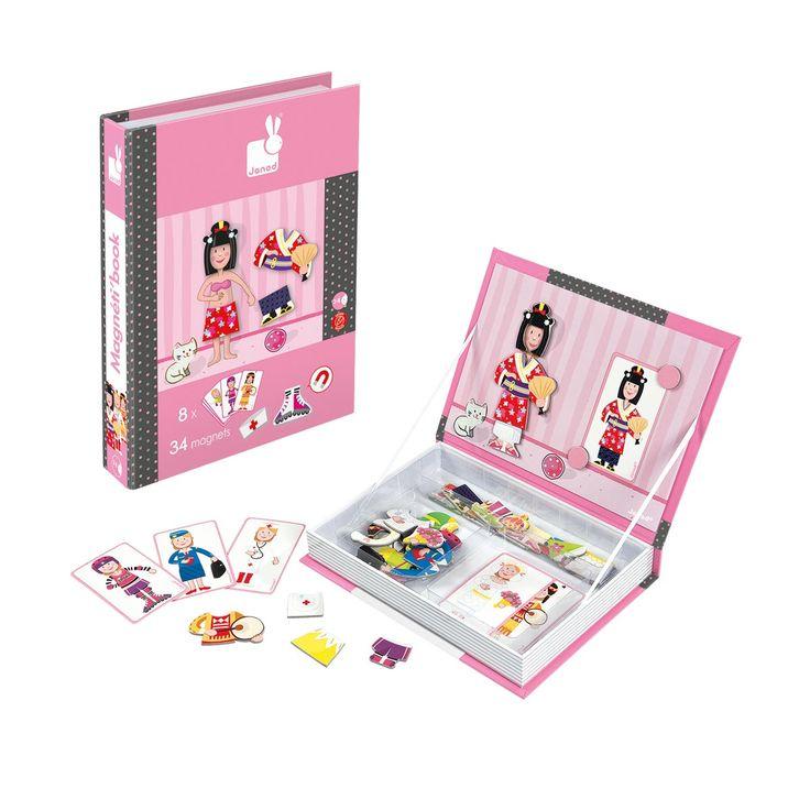 Livre magnétique déguisements fille Janod pour enfant de 3 ans à 6 ans - Oxybul éveil et jeux ...