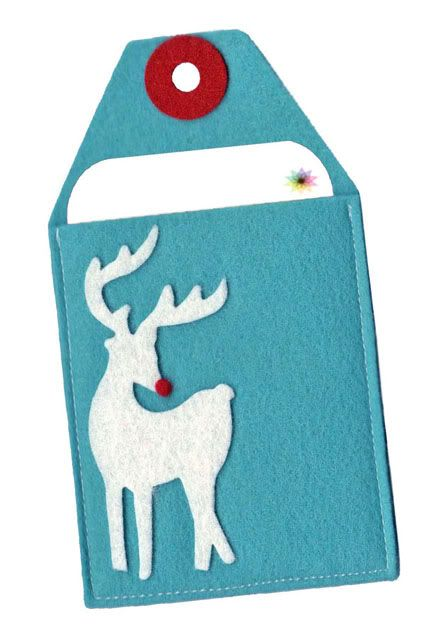 If you give gift cards, we love these handmade felt enclosures to make it so much more special.Felt Christmas Presents, Tags Gift Cards, Felt Giftcard Holders, Diy Giftcard, Giftcard Enclosure, Cards Holders, Felt Enclosure, Felt Gift Card Holder, Gift Card Holders