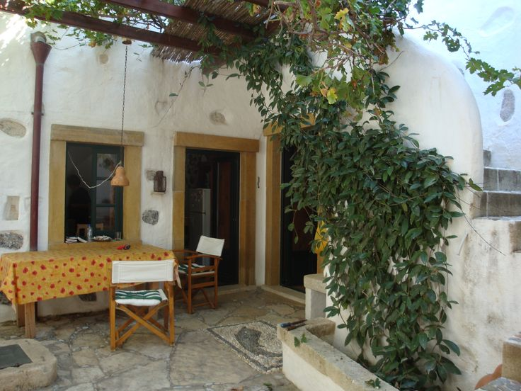 inner yard in Leros, Greece