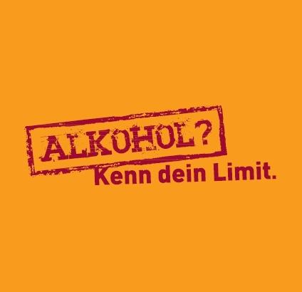"""Kampagne """"Alkohol? Kenn dein Limit."""" der Bundeszentrale für gesundheitliche Aufklärung."""