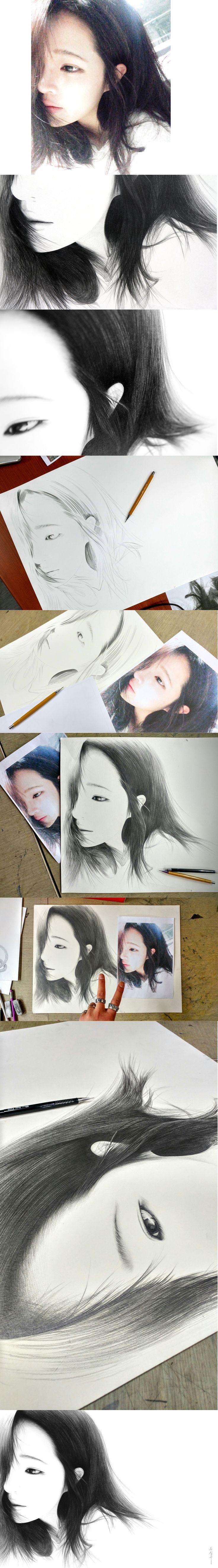 샤프로 그림/ drawing / only sharp artist / sung su - song . korean 인물화, 초상화, 드로잉/송성수