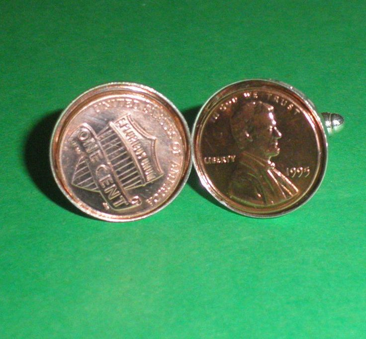1995 American Coin Cufflinks,  21st Birthday Gift, President Lincoln coin by…