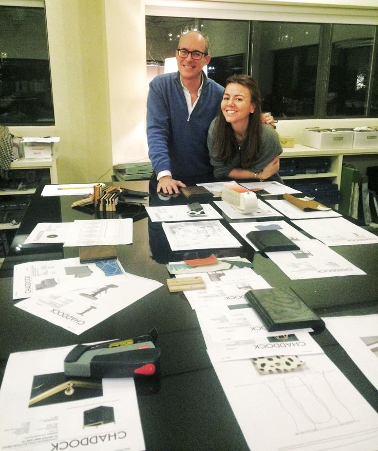 Chaddock guest designers Peter Sinnott and Sarah Kennedy Dolce working the lineup for their presentation at the April 2016 High Point Market.