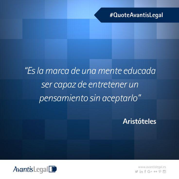 Esta semana hablamos sobre la educación y el respeto, os dejamos una de sus grandes frases celébres #Aristóteles #FelicesFiestas http://bit.ly/2h8wZ1C