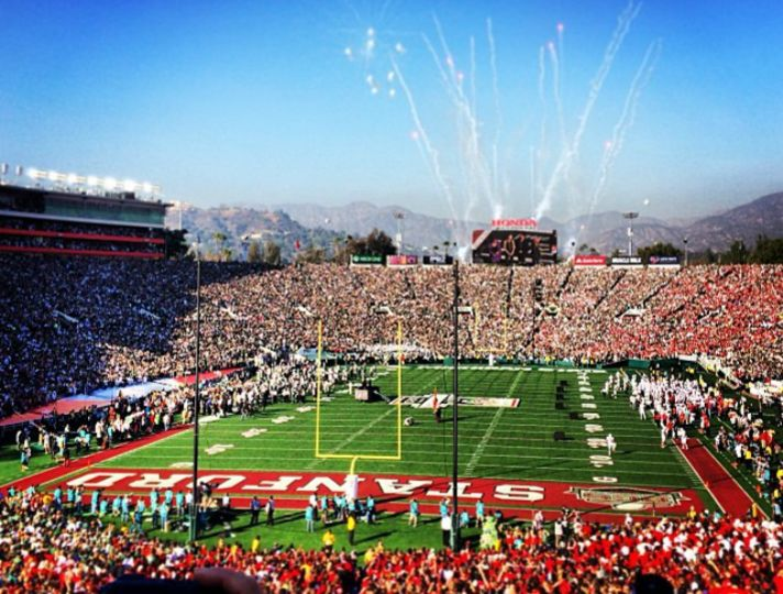 Visit Pasadena for the Tournament of Roses, football game at the Rose Bowl