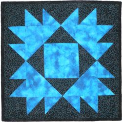 Beginning quilting includes both stitch in the ditch and free motion quilting stitches