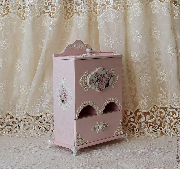 """Купить Чайный буфет шебби-шик """" Розовый сад"""" - бледно-розовый, подарок женщине"""