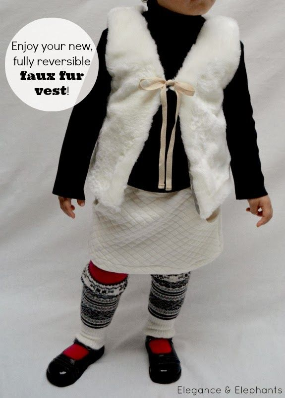 Elegance & Elephants: Faux Fur Vest Tutorial