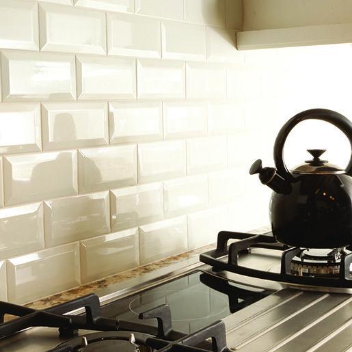 Kitchen Wall Tiles For Cream Kitchens: Ceramic Bone 3 X 6 Adex Hampton, Crackle Beveled Wall Tile