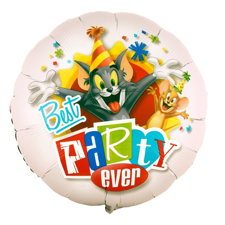 "Tom and Jerry 18"" Foil Balloon - Includes 18 inch foil balloon. This is an officially licensed TM/MC & © Turner Entertainment Co. product."