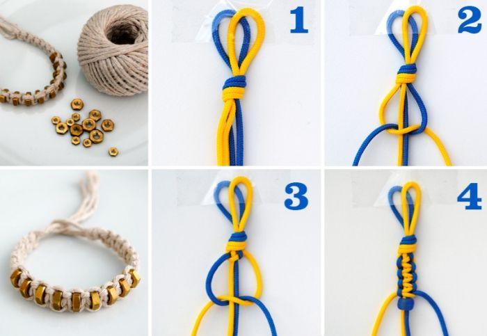 1001 Tutos Et Modeles Uniques De Bracelet Macrame Bracelet Macrame Modeles De Bracelet Comment Faire Des Bracelets
