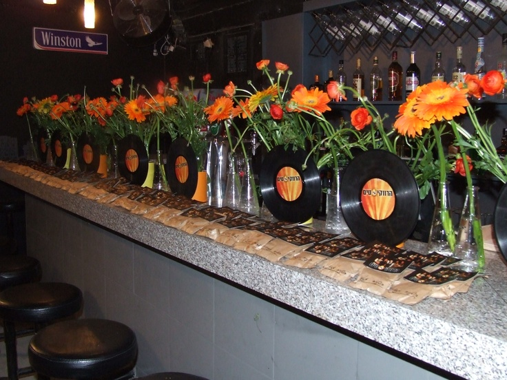 Music theme party. RockStar party reception decor