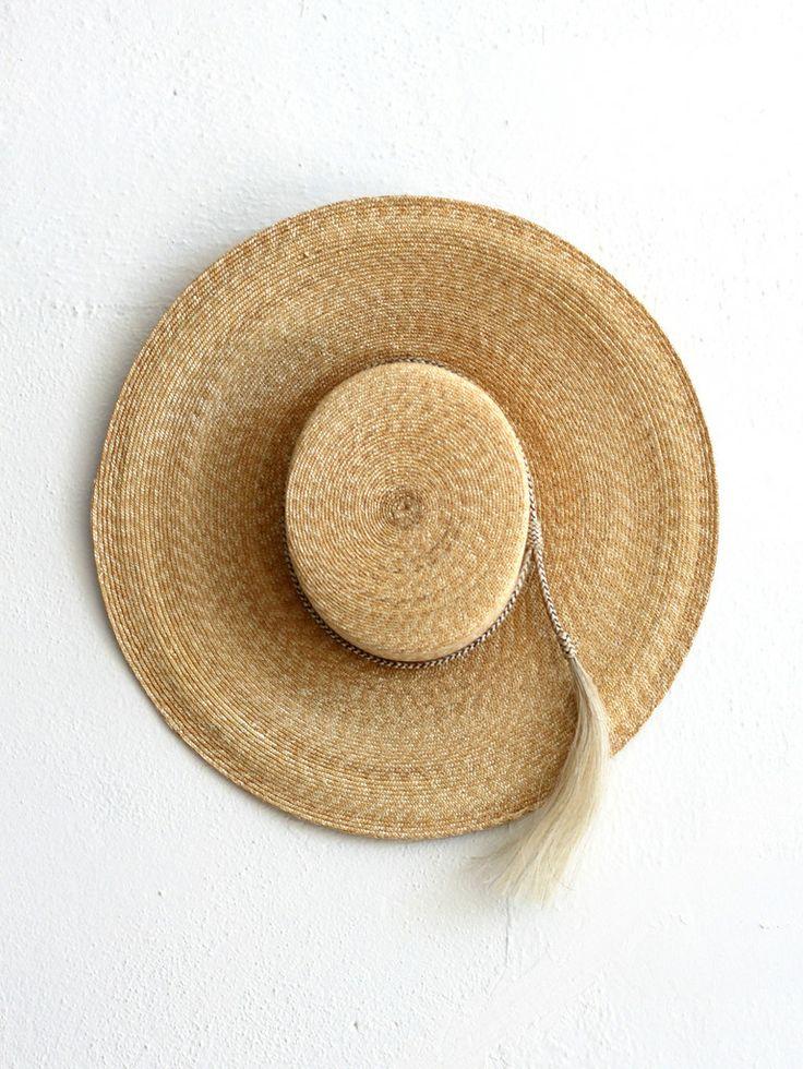 // Ryan Roche Wide Brim Straw Hat.