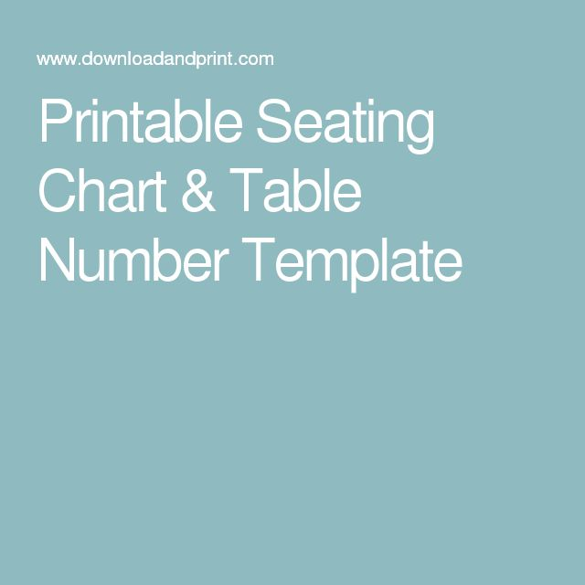 Best 25+ Seating chart template ideas on Pinterest Seating chart - number chart template