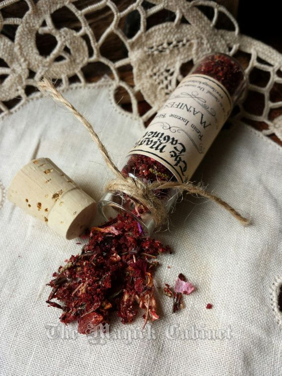 Manifest Incense, Handcrafted Incense, Loose Incense, Witchcraft Supply, Pagan, Witch, Wicca, Aromatherapy, Natural Incense, Incense Blend