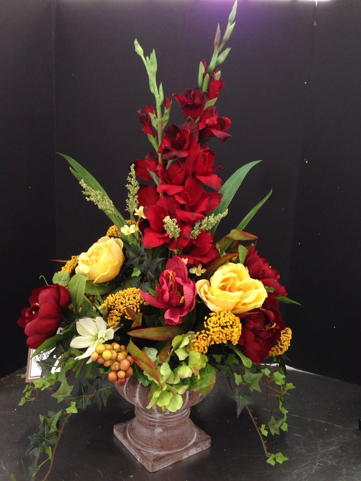 New Burgundy Green And Gold Traditional Arrangements