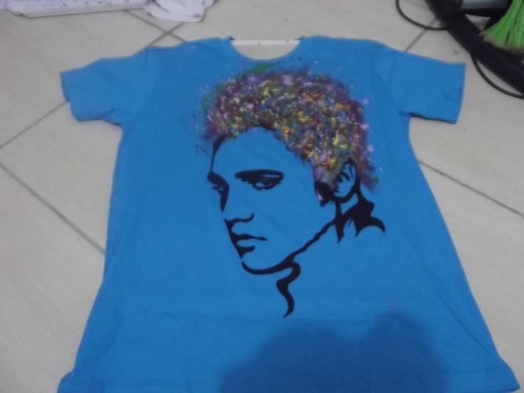 Camiseta elvis feita a mão Rafael Lucas Pereira