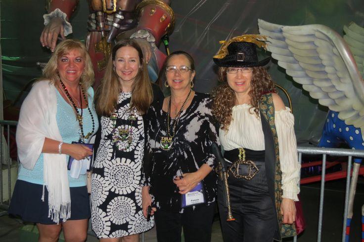 Janine Summers, Tamara Worlton, Pamela Worlton and the pirate lady - Jane Stewart