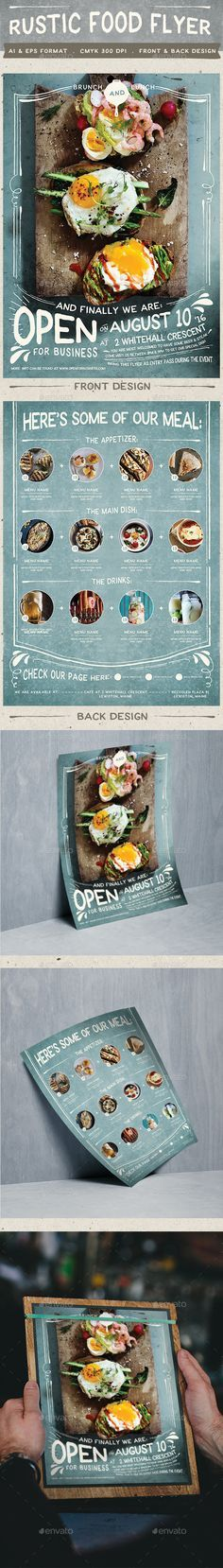Rustic Food Promo Flyer Template #design Download: http://graphicriver.net/item/rustic-food-promo-flyer/12482053?ref=ksioks